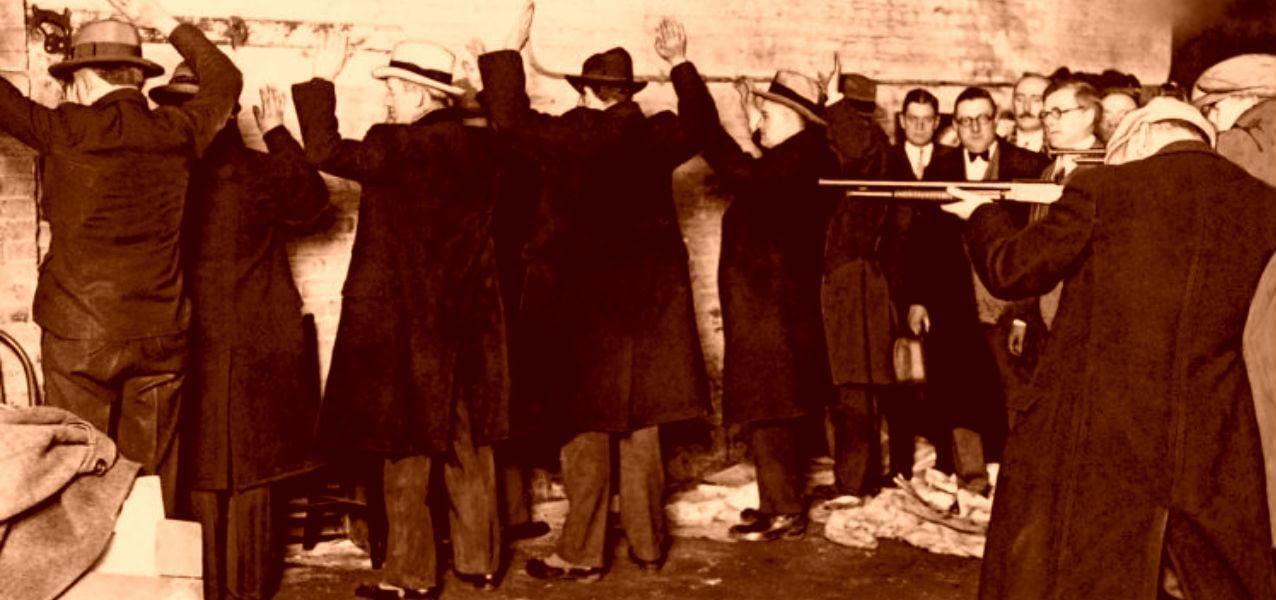 Juror reenactment of ST. Valentines Day Massacre