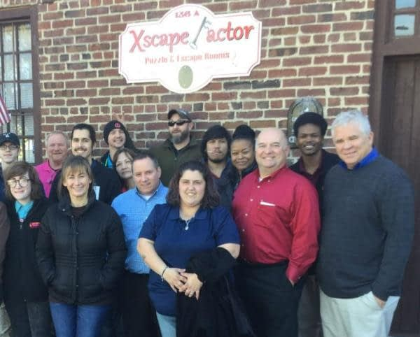 Local companies come to Xscape Factor for team building