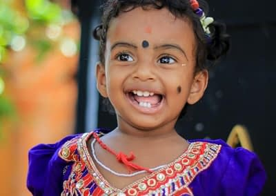 hindu child with face markings